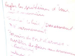 Education à la paix au college du Rheu en Ille-et-Vilaine