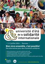 Cliquez sur l'image pour voir l'affiche de l'Université d'été de la solidarité internationale