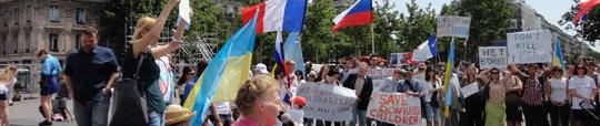 Manifestation pour la paix en Ukraine