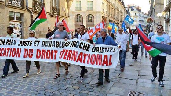 Manifestation à Rennes le 31 juillet 2014