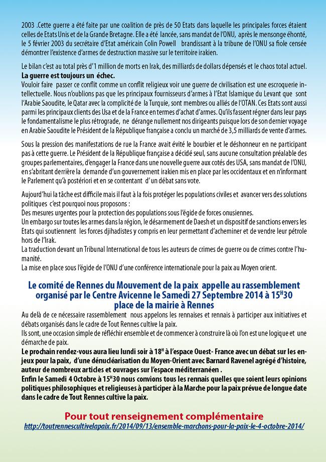 manifestation du 27 septembre 2014 à Rennes