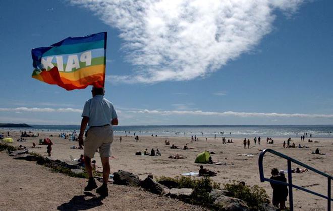 Paix sur la plage