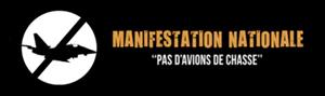 Manifestation nationale belge : Pas d'avions de chasse