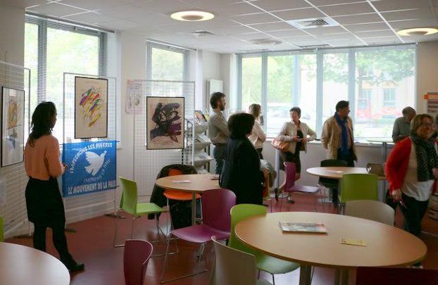 """""""Les arts en paix"""" à l'UD CFDT 35"""