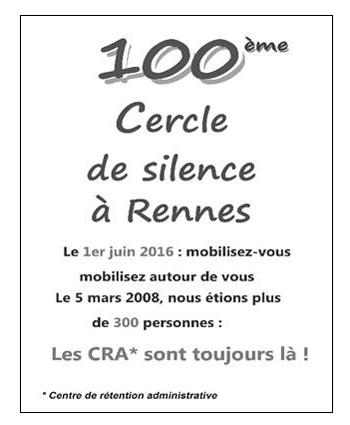 100ème cercle de silence à Rennes