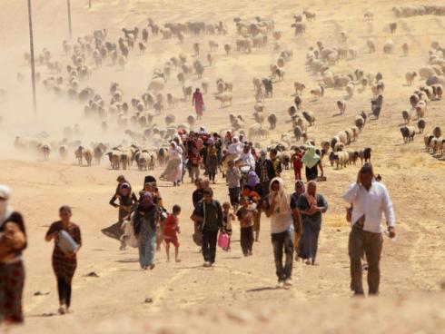 Les Yézédies fuient vers la frontière syrienne