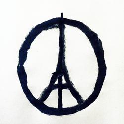Paix à Paris. Un dessin de Jean Jullien