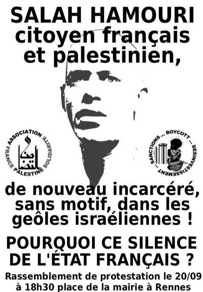 affiche Salah Hamouri