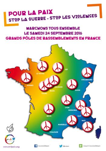 marche pour la paix le 24 septembre 2016 à rennes