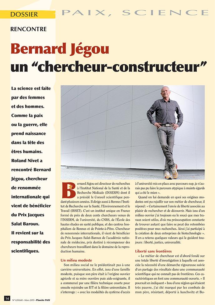 Bernard Jégou, un chercheur-constructeur (page 1)