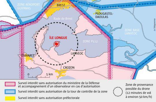 Ile-Longue : Vaste chasse au drone mardi
