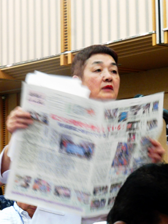 femme intervenant à Hiroshima