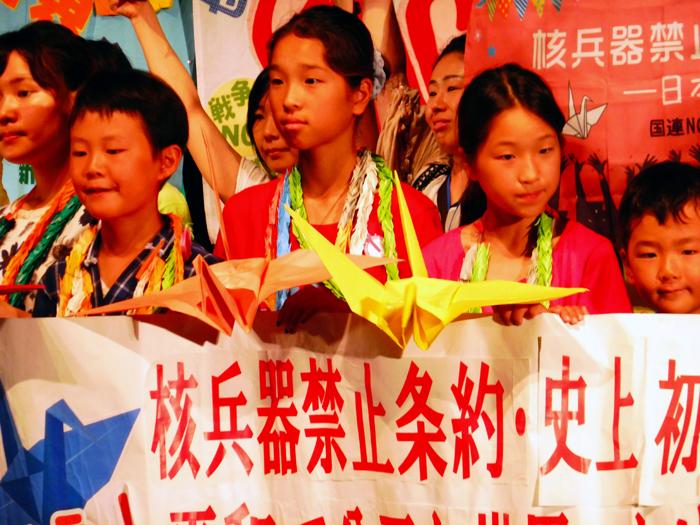 des enfants pacifists à Nagasaki 2017