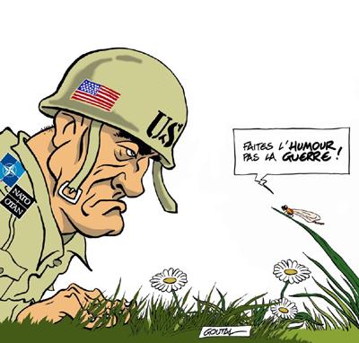faites l'humour pas la guerre !