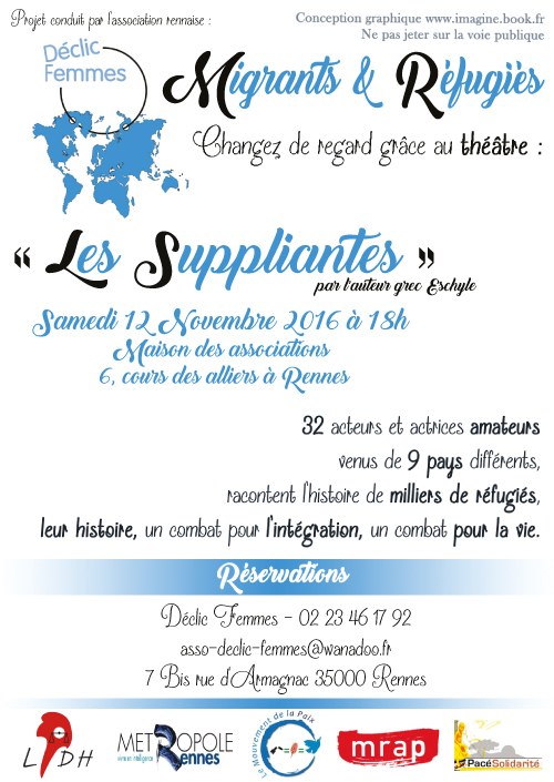 "flyer ""Les suppliantes"""