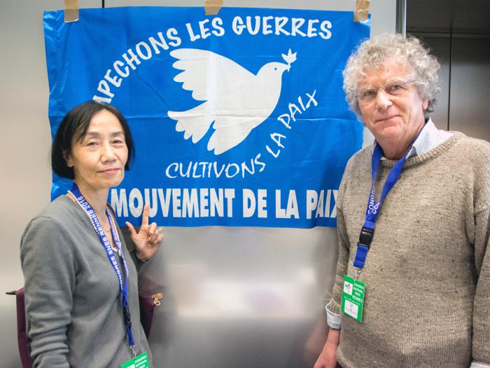 Fumiko et Roland au congrs national du SNES-FSU