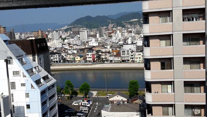 Hiroshima vue de notre fenetre en 2017