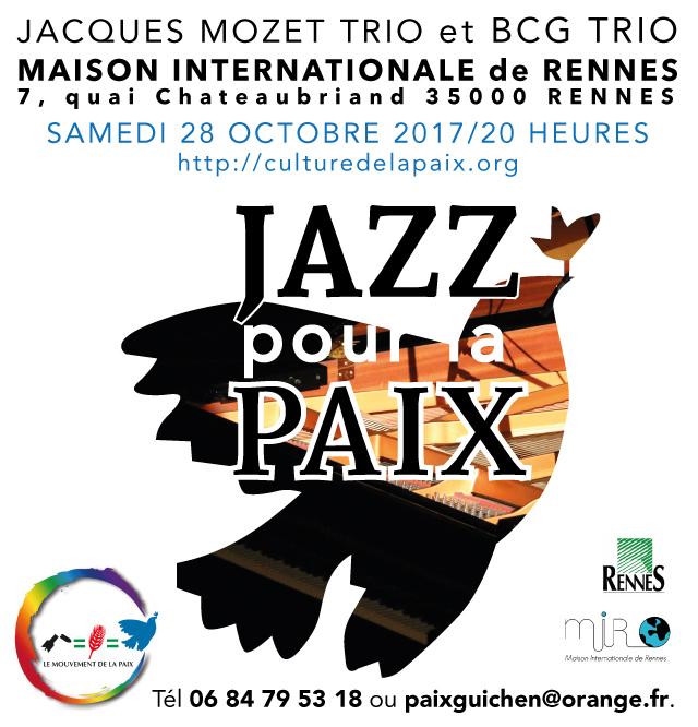 Jazz pour la paix à Rennes