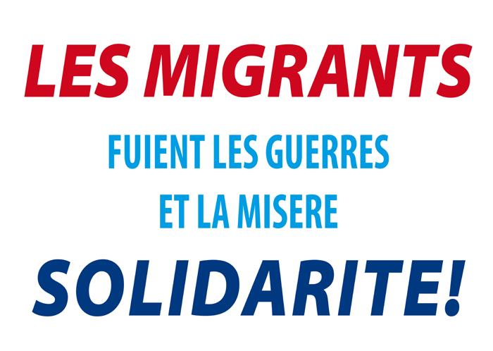 Les migrants fuient les guerres et la misère - Solidarité