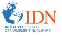logo de l'IDN - Initiatives pour le désarmement nucléaire