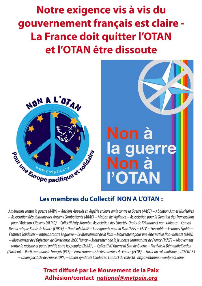 rassemblement contre les manoeuvres de l'OTAN le dimanche 28 mai à Carhaix