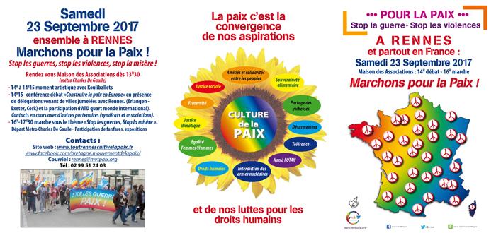 Marchons pour la paix le 23 septembre 2017