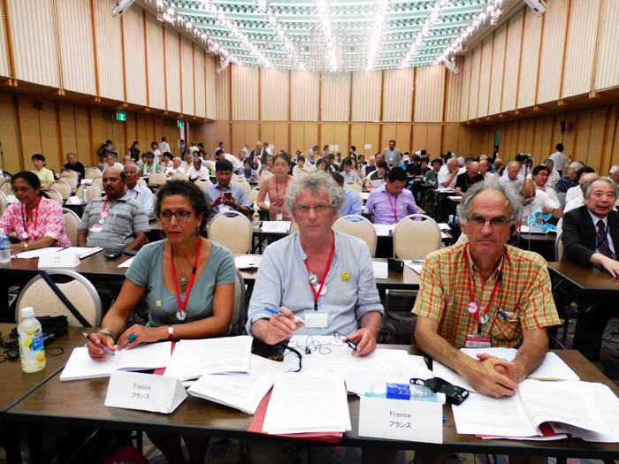 La délégation du Mouvement de la paix à Hiroshima