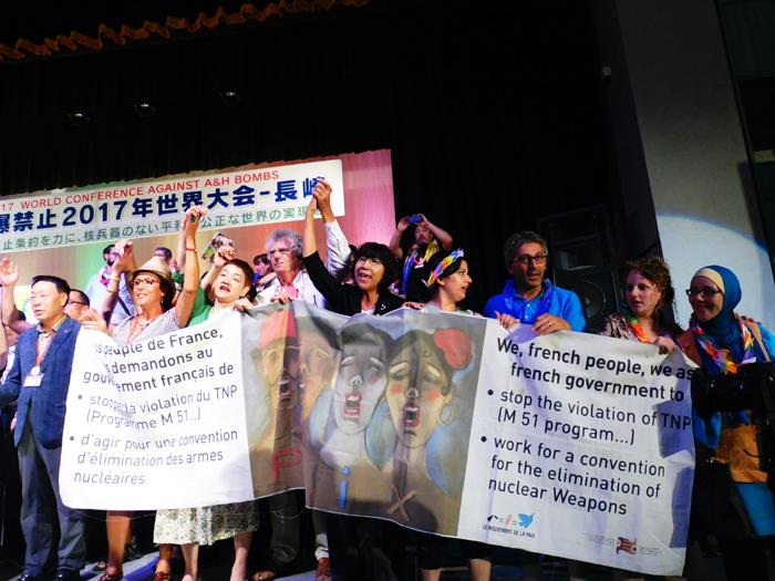 les francais à Nagasaki le 9 aout 2017
