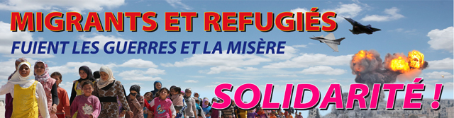 migreants et refugies fuient les guerres et la misere, solidarite