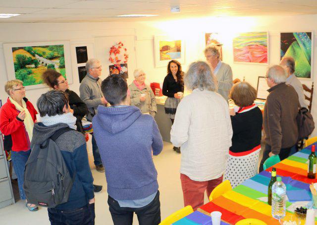 Vernissage d'En mai les arts en paix à Rennes