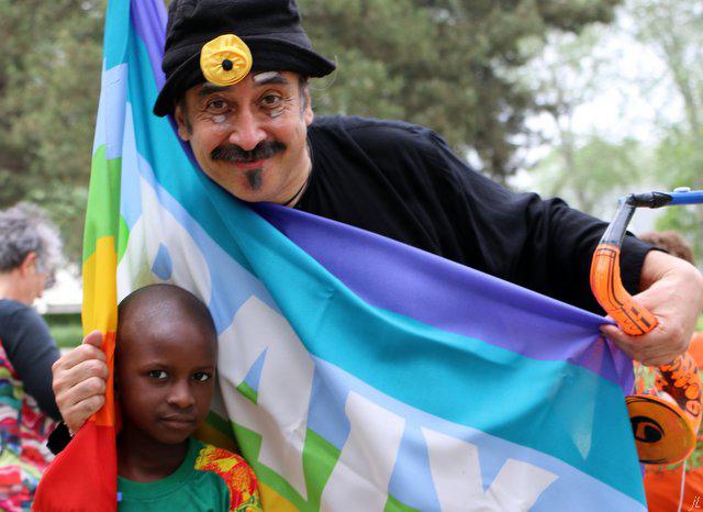 René Palacios, le clown mime et magicien