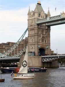 Le bateau à Londres