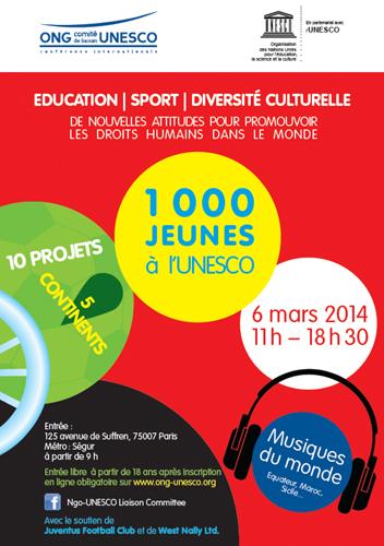 1000 jeunes à UNESCO
