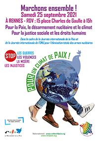 affiche pour les marche du 25 septembre 2021