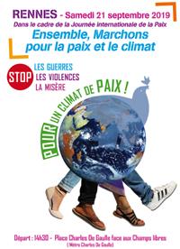 marchons pour la paix le 21 septembre 2019 à Rennes