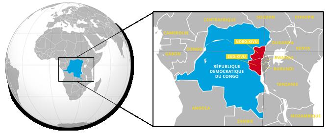 La région de Kivu au RD Congo
