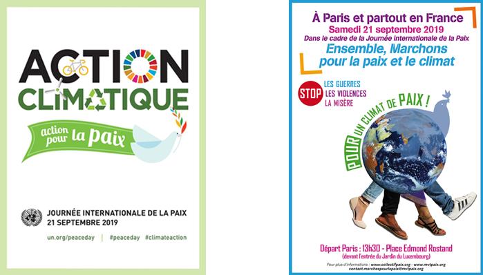 action climatique, action pour la paix, marchons partout en France le 21 septembre 2019