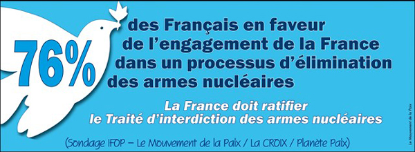 76% des francais en faveur de l'elimination des armes nucleaires