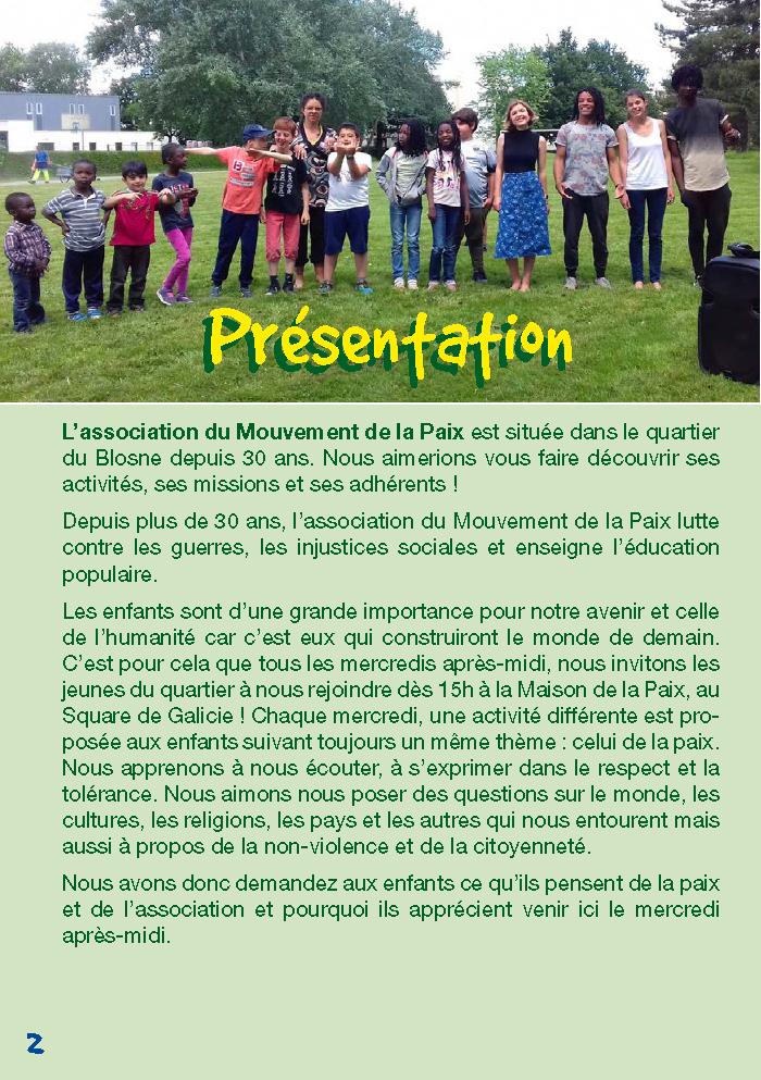 Galicie croque la vie - presentation du Mouvement de la paix