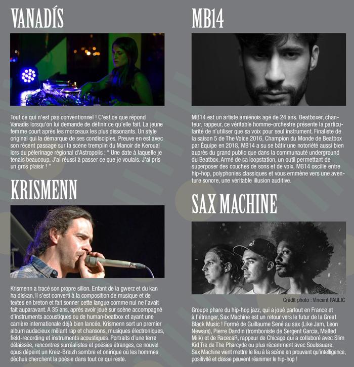 les concerts de l'Actifiesta à Rennes le 26 septembre 2019