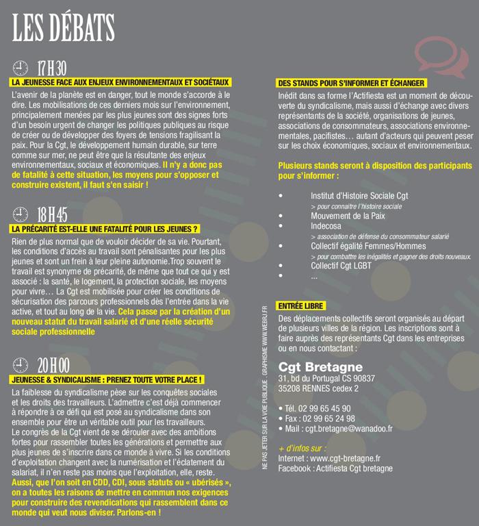 les débats de l'Actifiesta à Rennes le 26 septembre 2019