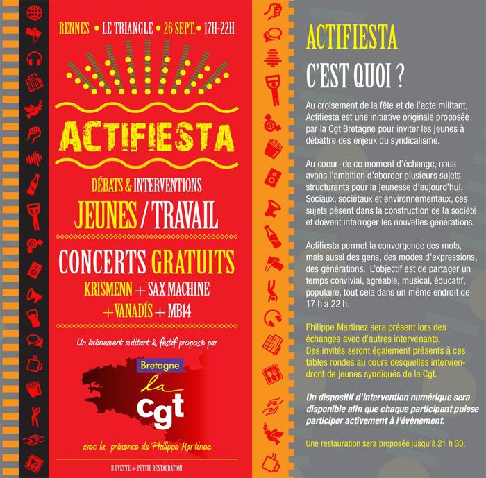 Actifiesta du Cgt Bretagne à Rennes le 26 septembre 2019
