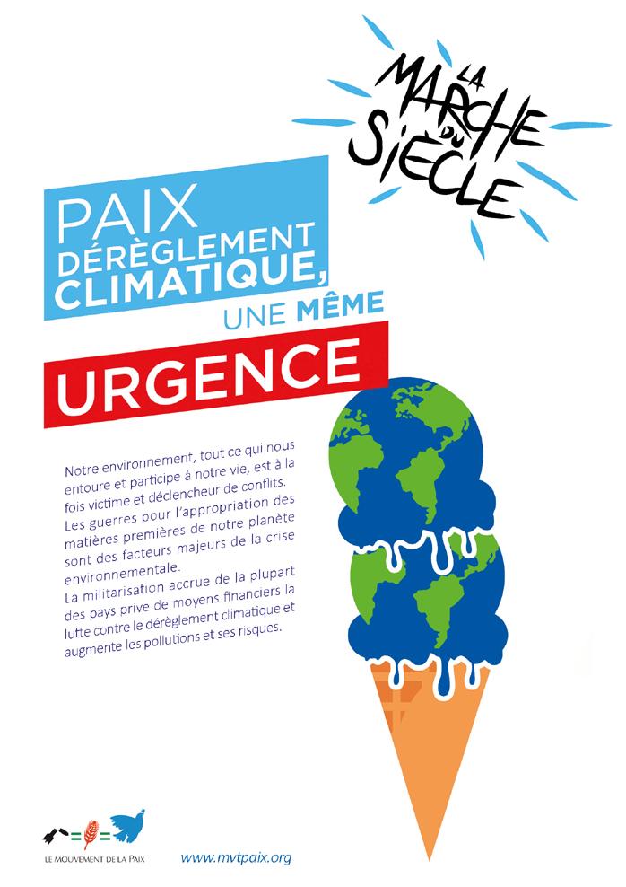 La marche du siècle : paix, dérèglement climatique, une même urgence