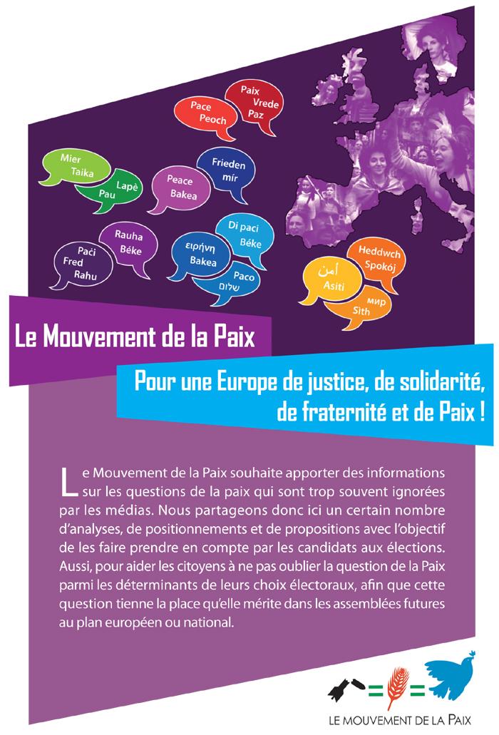 Pour une Europe de justice, de solidarité, de fraternité et de Paix !