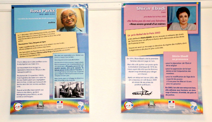 Rosa Parks et Shirin Ebadi, ambassadrices de paix
