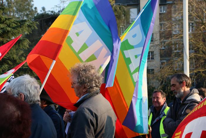 rassemblement solidaire de Geneviève Legay